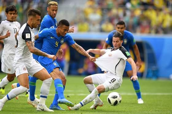 브라질과 코스타리카 경기 모습. [AFP=연합뉴스]