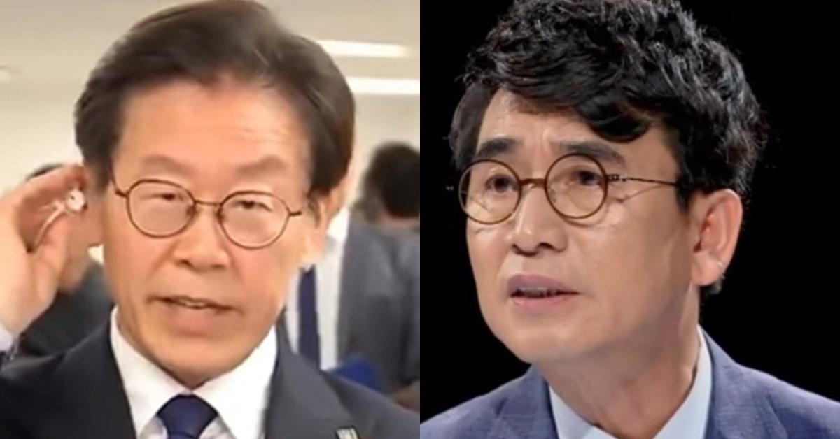 이재명 경기지사 당선인(왼쪽)과 유시민 작가. [사진 MBC·JTBC]