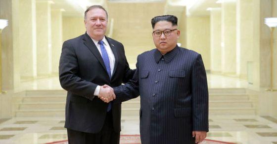 지난 5월 평양을 방문해 김정은 북한 국무위원장을 만난 마이크 폼페이오 미국 국무장관. [연합뉴스]