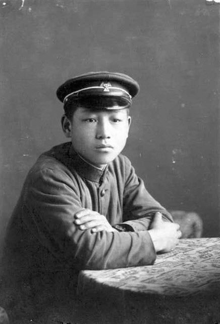 김종필(JP) 전 총리의 1940년 공주중학교 시절의 모습. [중앙포토]