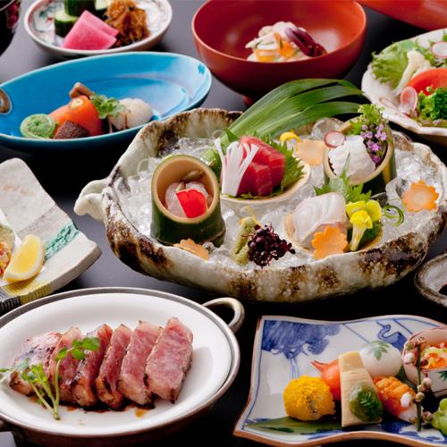 효고 아리마 온천의 겟세이 료칸 음식.