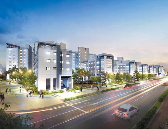한강신도시에 김포한강 롯데캐슬 공공지원 민간임대주택이 들어선다.
