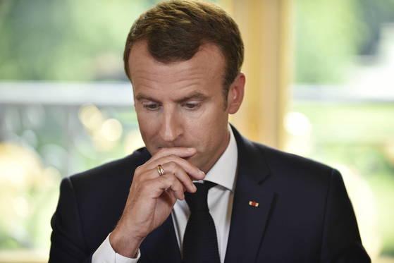 에마뉘엘 마크롱 프랑스 대통령이 국영철도 노조의 파업을 뚫고 개혁안 입법에 성공했다. [EPA=연합뉴스]