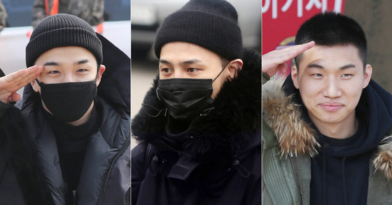 Moments of BIGBANG members enlisting, Photo from Ilgan Sports