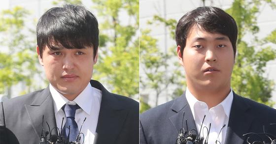 성폭행 혐의를 받고 있는 넥센 히어로즈 포수 박동원(28, 왼쪽)과 투수 조상우(24) [뉴스1]