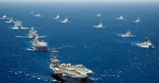지난 2012년 다국적 연합훈련 '림팩(환태평양) 훈련 당시 모습. [사진 해군 제공]