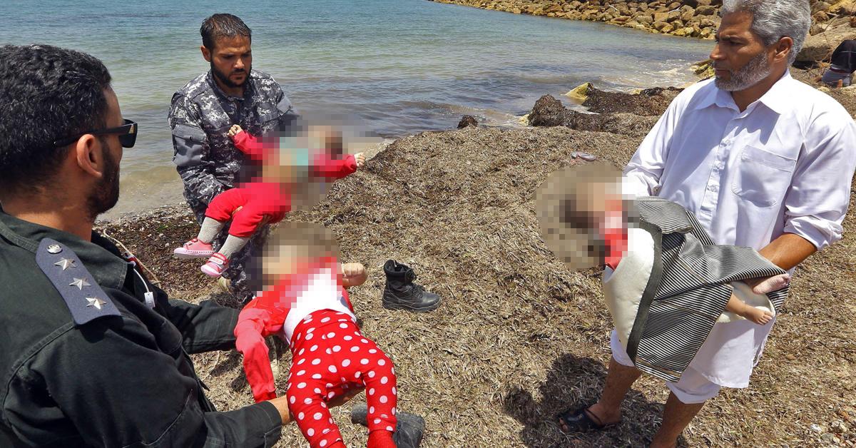 숨진 채 발견된 난민 아기 3명. [AFP=연합뉴스]