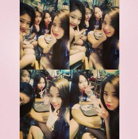 Jennie, Jisoo, Nayeon in the trainee days, Photo from Online Community