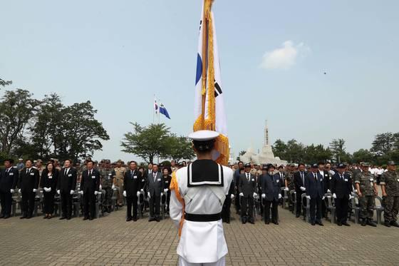 지난 2017년 6월 29일 오전, 제2연평해전 15주년 기념행사가 경기도 평택 해군2함대사령부에서 열렸다. 장진영 기자