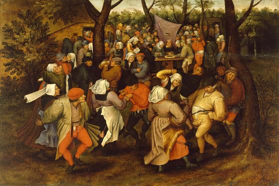 브뤼헐 <농민의 결혼식 춤>, 1607년