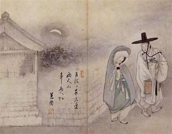 신윤복 <월하정인>, 1793년