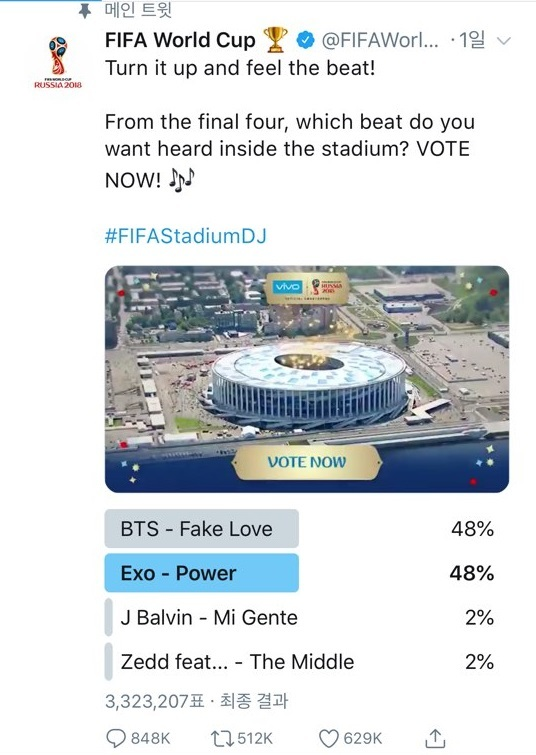EXO Defeated BTS From The Poll World Cup Provided…Will EXO