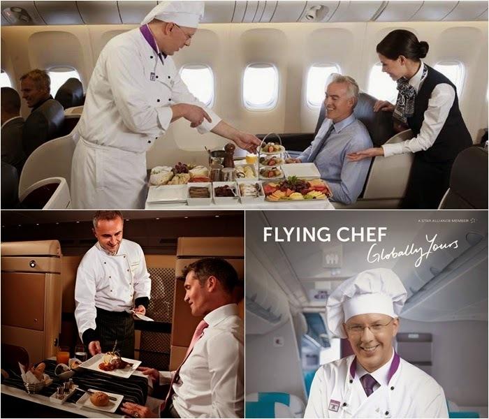 비행기에 요리사가 동승해 직접 기내식을 서빙하는 항공사도 있다.