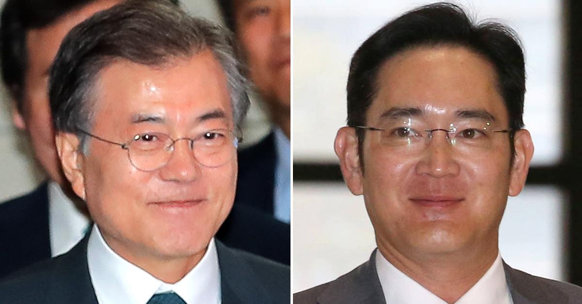 문재인 대통령(左), 이재용 삼성전자 부회장(右) [중앙포토, 연합뉴스]