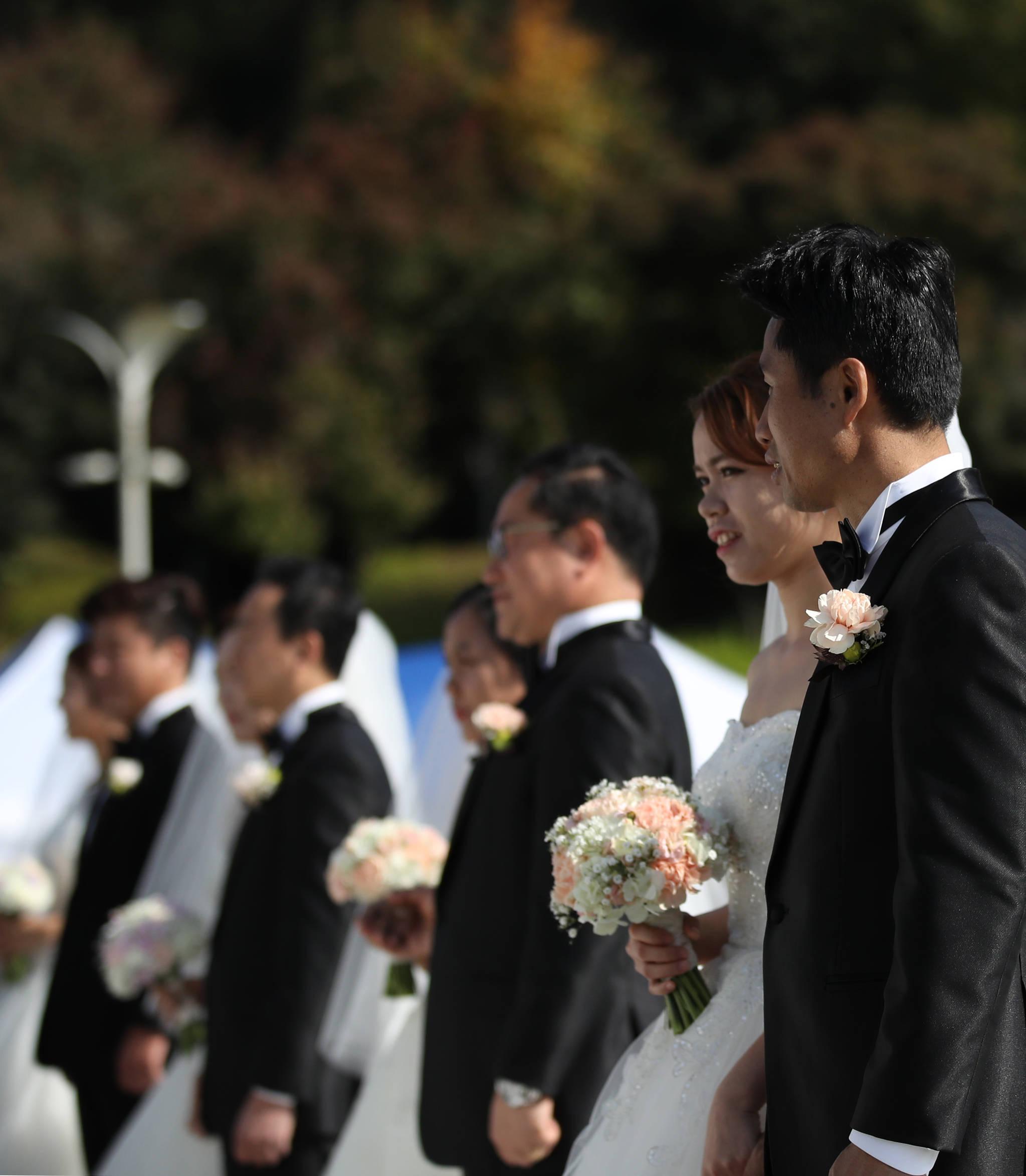 지난해 10월 서울 강동구에서 열린 다문화가족 합동결혼식. [연합뉴스]