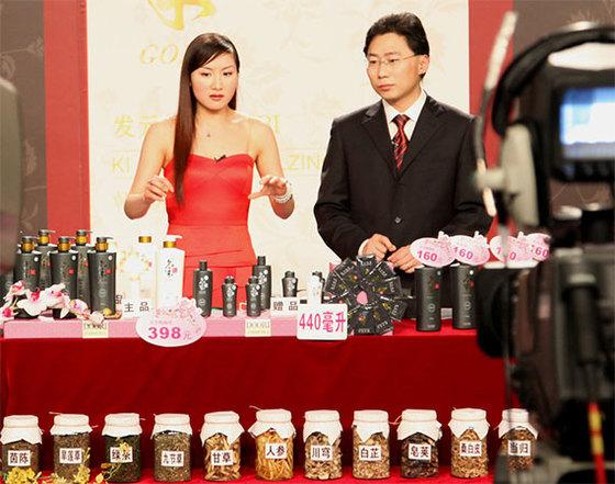 중국 홈쇼핑에서 판매되는 한국산 샴푸. [중앙포토]