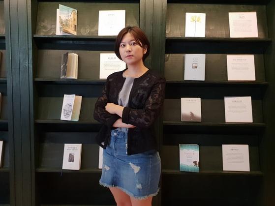 지난달 20일 신촌의 한 카페에서 중앙일보와 인터뷰를 한 은하선씨. 여성국 기자