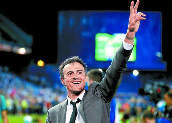 2020년까지 스페인 축구대표팀을 이끌 루이스 엔리케 전 FC바르셀로나 감독. [로이터=연합뉴스]