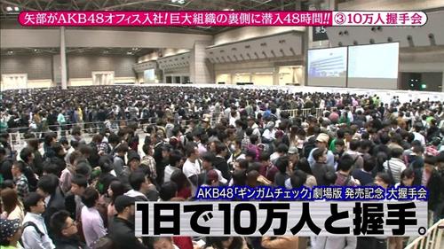 AKB48의 악수회에 모여든 인파