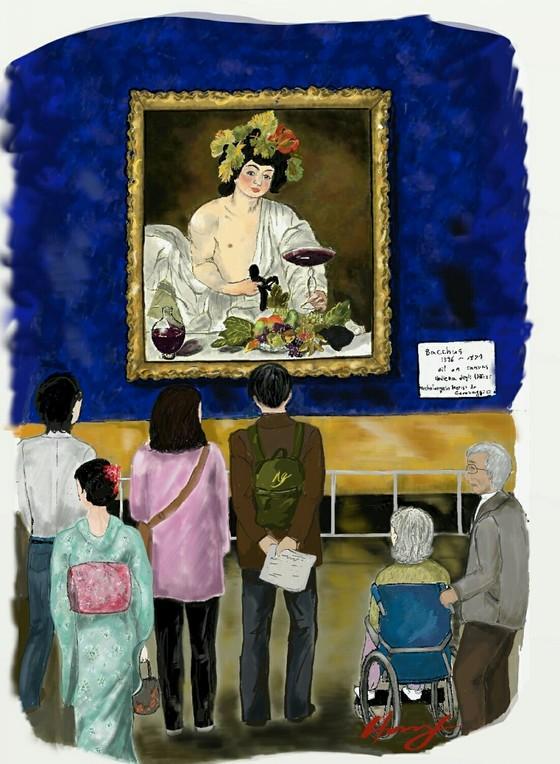 도쿄 국립서양미술관에서 열렸던 카라바조 전시 by 갤럭시노트5. [그림 홍미옥]