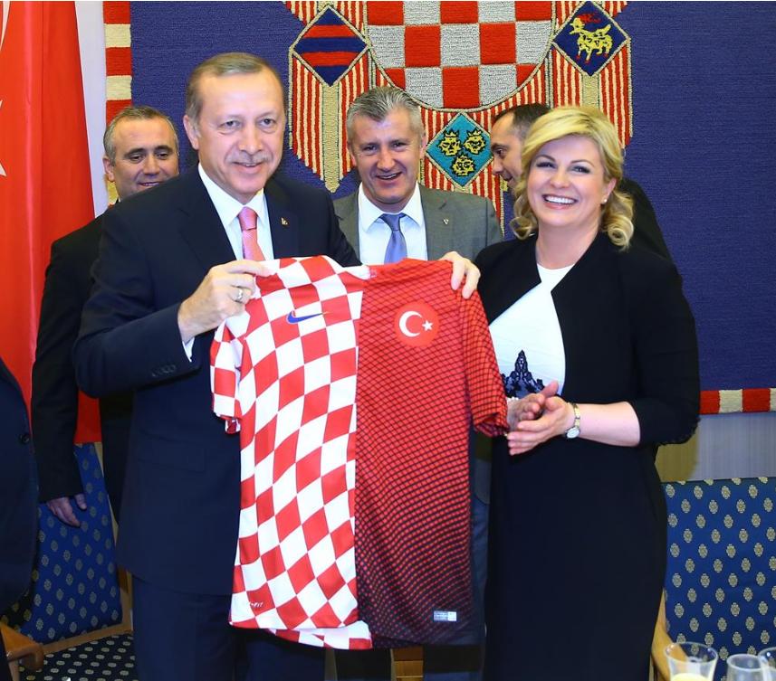 콜린다 크로아티아 대통령과 에르도안 터키 대통령. [사진 pinterest]