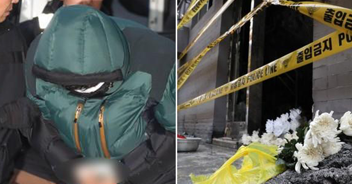 서울 종로구 방화 사건 피의자(왼쪽 사진)과 당시 사고 여과. [연합뉴스]