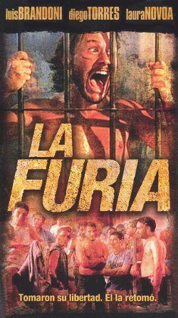 피타나 주심이 교도소 간수 역할을 맡은 영화 '라 푸리아'(La Furia) 포스터 1997년.