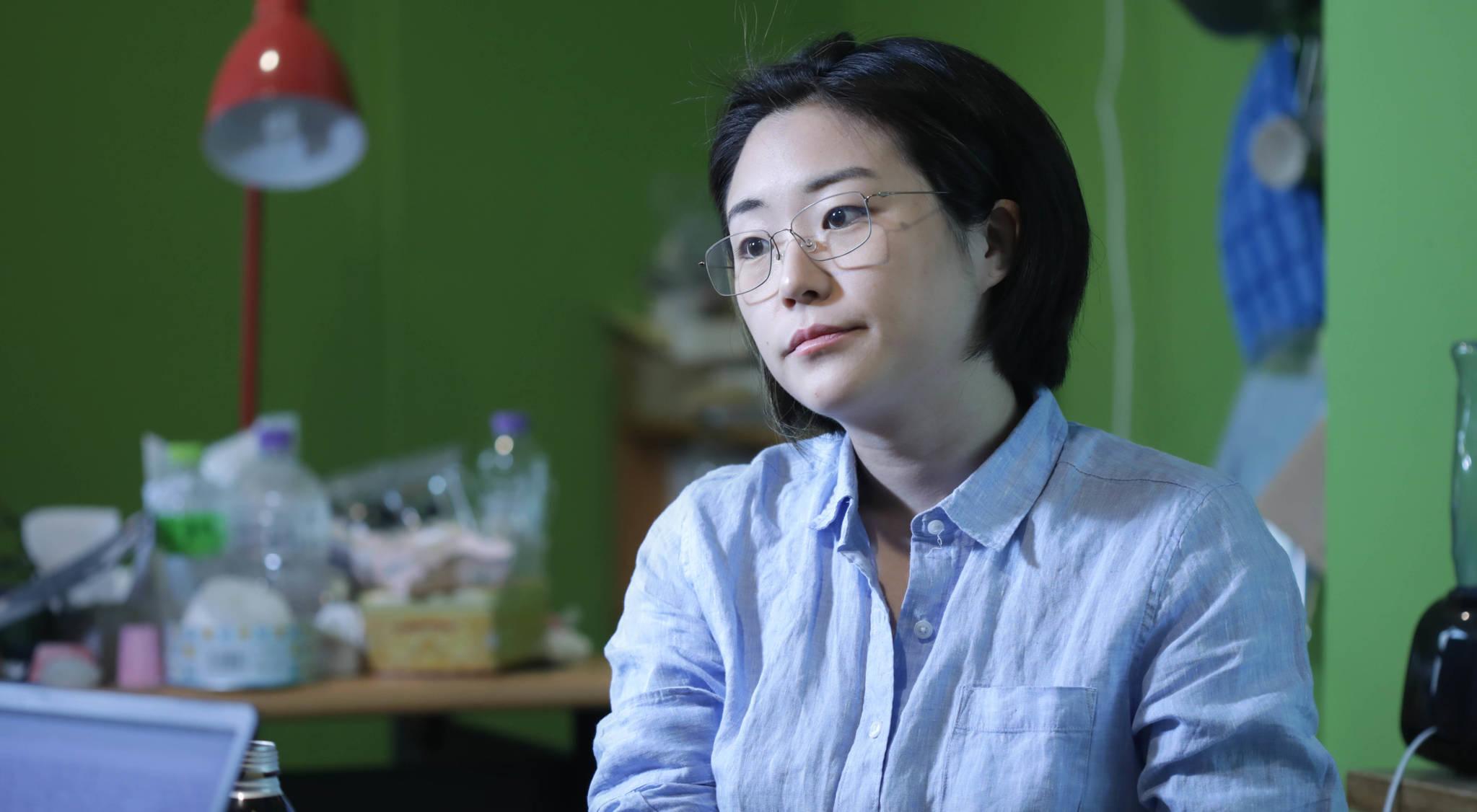 신지예 녹색당 서울시당 공동운영위원장. 김경빈 기자
