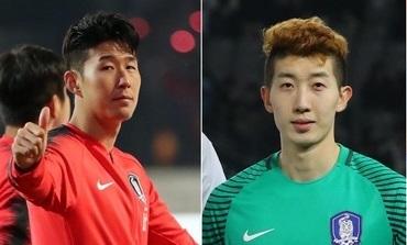 손흥민(왼쪽)과 조현우. [연합뉴스]