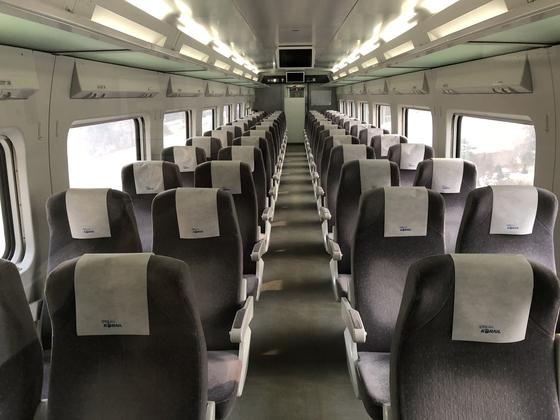 텅빈 KTX 열차 좌석. (※이 사진은 기사 내용과 직접적인 관련이 없습니다) [중앙포토]