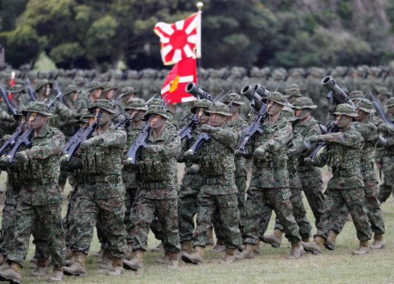 일본 자위대 훈련 [사진 연합뉴스]