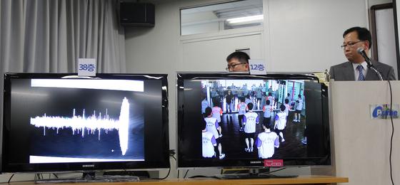 2011년 실시된 테크노마트 진동실험 [사진 중앙포토]