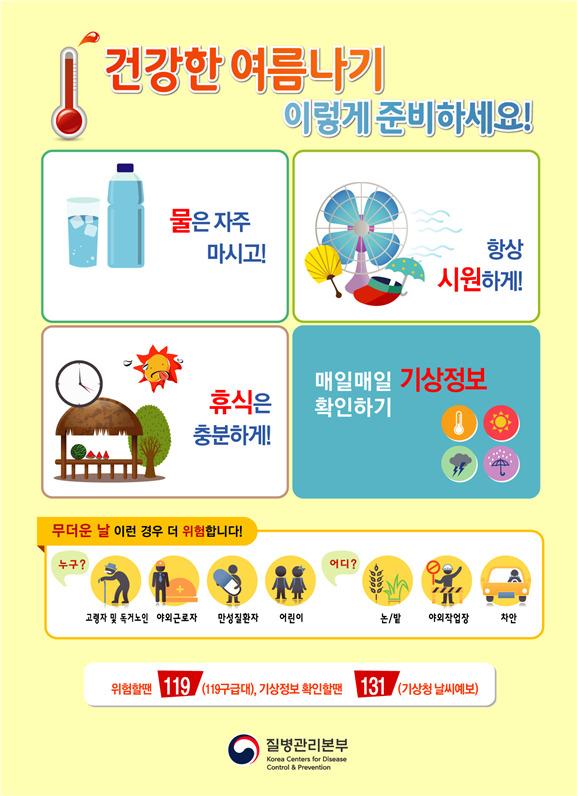 온열질환 예방 수칙. [자료 질병관리본부]