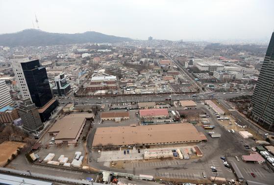 서울 용산 미군기지 부지 일부.