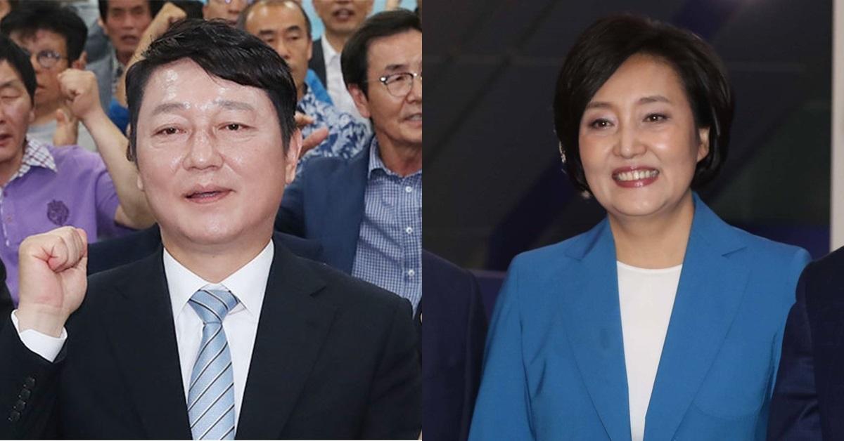 더불어민주당 최재성(왼쪽) 의원이 18일 당 대표 출마 선언 기자회견 일정을 알린 가운데 박영선 의원은 이날 불출마를 선언했다. [뉴스1·중앙포토]