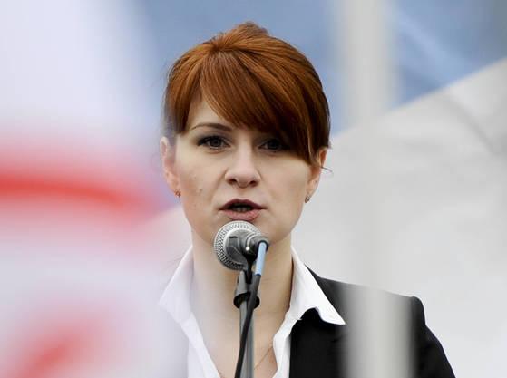 미국 연방수사국(FBI)에 외국 스파이 혐의로 18일 구속된 마리아 부티나(29).[AP=연합뉴스]