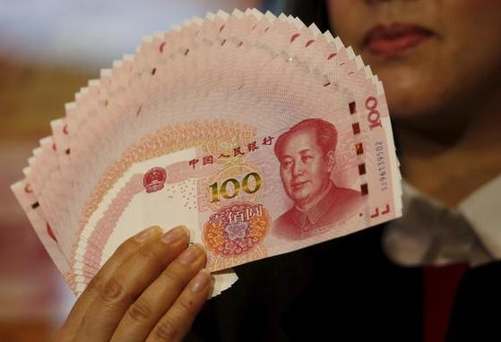 중국 위안화. [로이터]