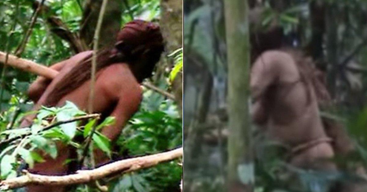 브라질 국립원주민재단이 추적 끝에 생존을 확인한 아마존 열대우림에서 홀로 고립생활을 하는 원주민. [국영 뉴스통신 아젠시아 브라질=연합뉴스]