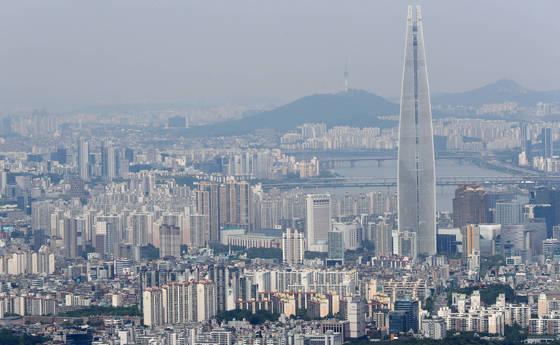 서울 강남·송파구 일대 아파트 단지 모습.