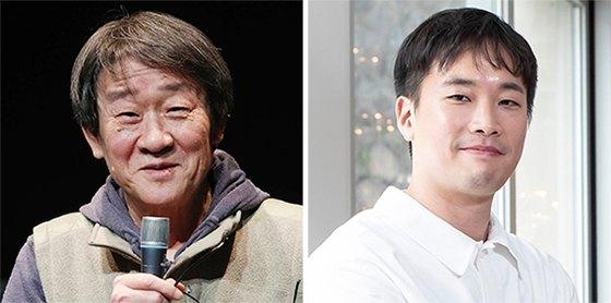 연출가 김민기(왼쪽)와 음악감독 정재일.
