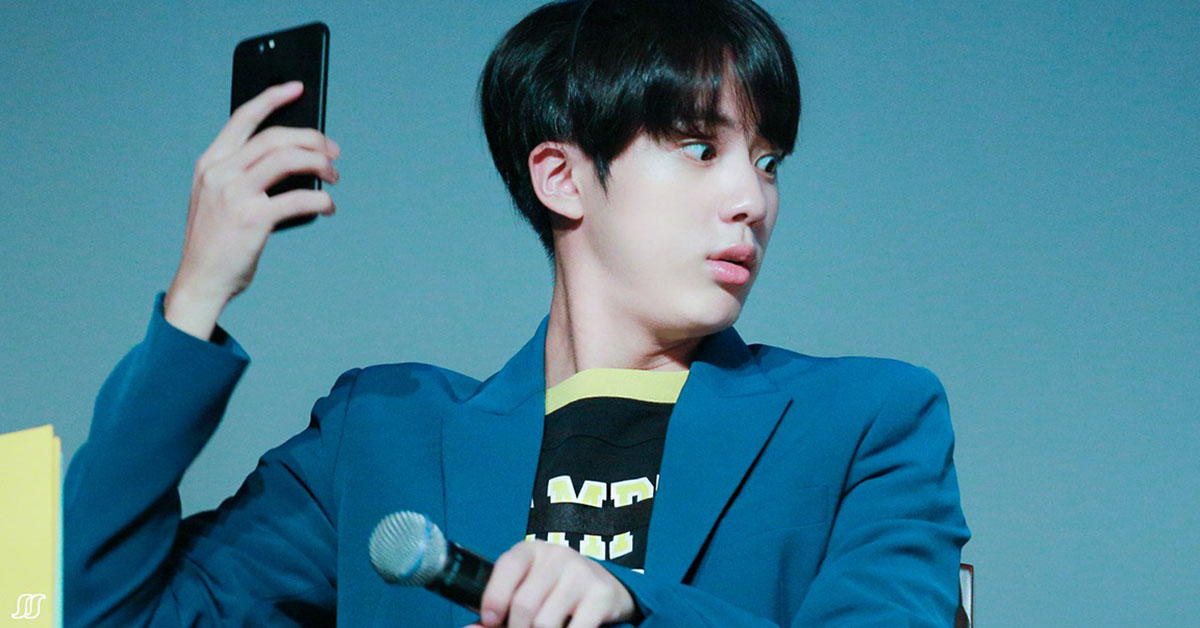 photos the reason why bts jin is called a gaebokchi or a sunfish
