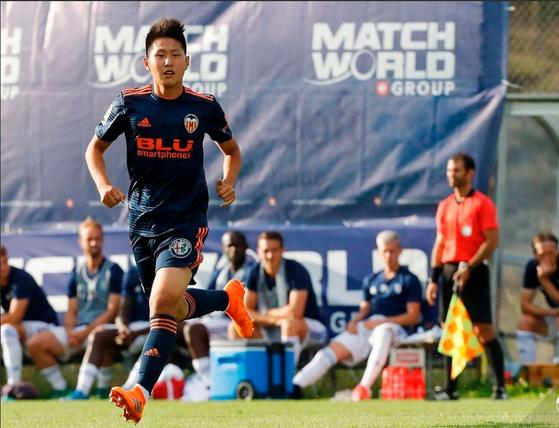 이강인이 25일 아시아인 최초로 발렌시아 1군 경기에 출전했다. [사진 발렌시아]