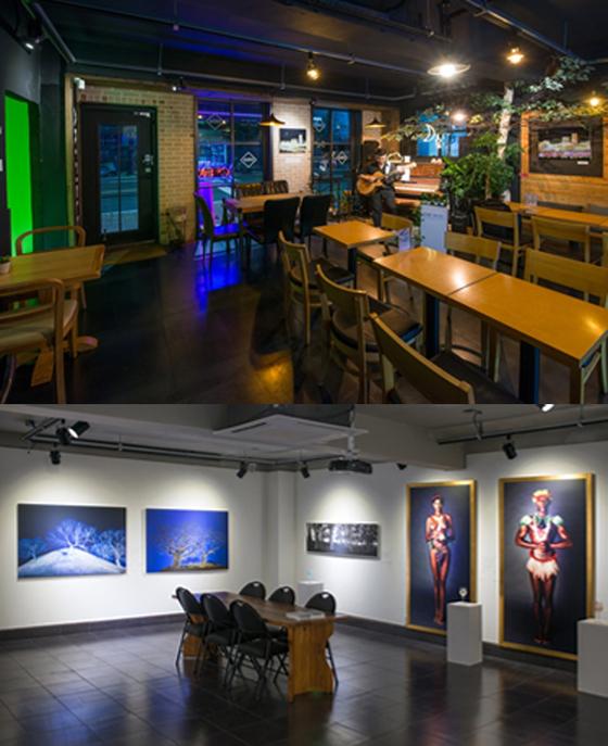 카페, 공연, 전시가 함께 하는 '양평문화살롱'(사진 위)과 '아트필드'(사진 아래). [사진 이상원]