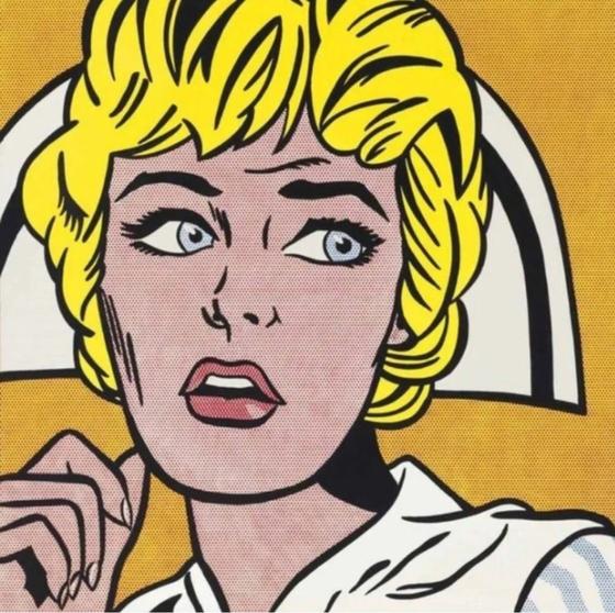 로이, 리히텐슈타인, 간호사, 1964, 2015년 뉴욕 크리스티 경매 1104억원 낙찰