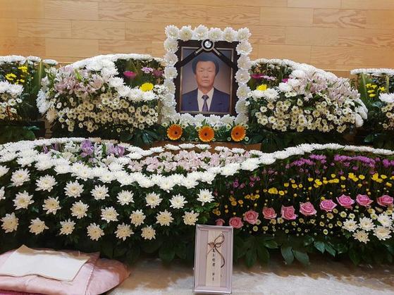 부산 부산진구 범천동 시민장례식장에 마련된 故박정기씨 빈소 [유족 측 제공=뉴스1]
