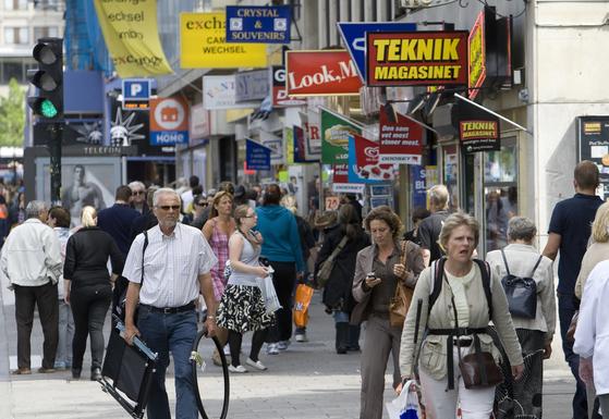 스웨덴에서 지향한 다국적기업은 국제적 경쟁력을 갖지 않으면 도태되지만, 반대로 경쟁력을 가지면 수많은 고용을 창출한다. [중앙포토]