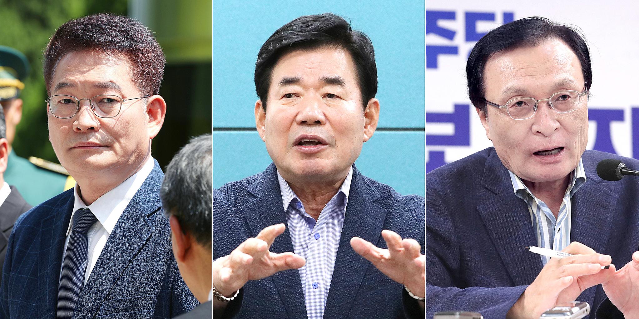 더불어민주당 당대표 후보인 송영길(왼쪽부터 기호순), 김진표, 이해찬 후보. [연합뉴스]