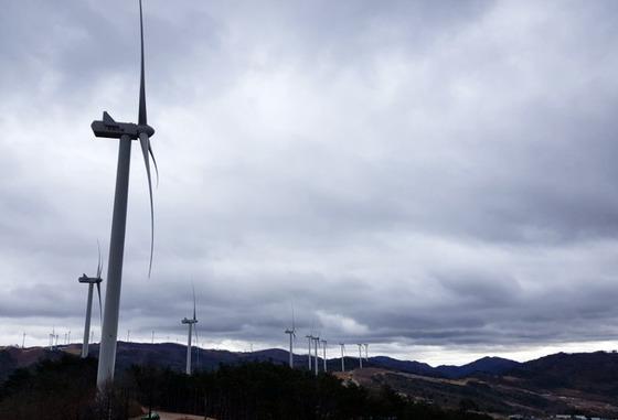 경북 영양군 영양읍 양구리 일대의 풍력발전기. 풍력발전기가 설치된 지역에서는 주민들이 저주파 소음 피해를 호소하기도 한다. [연합뉴스]