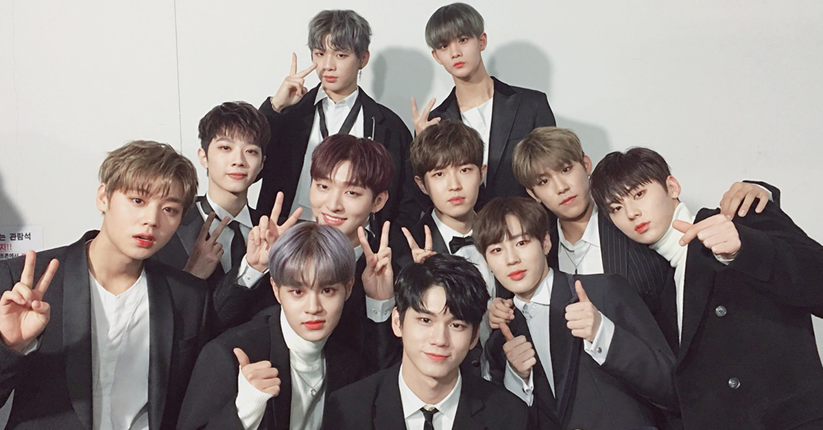 Photo from Wanna One's Twitter