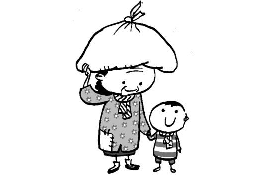 조부모가 아이를 맡아 키우는걸 '격대(隔代)육아'라고 한다. [일러스트 김회룡]